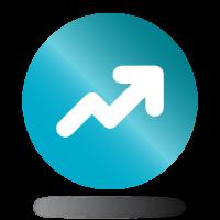 Trendvonal nyíl ikon
